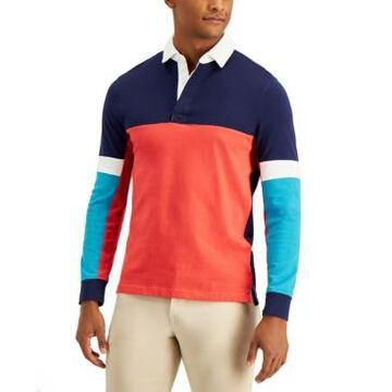 Club Room Men's Colorblocked Rugby Shirt, Created for Macy's