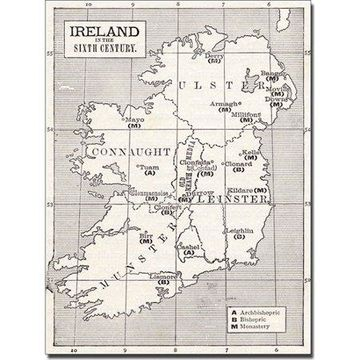 Trademark Art 'Map of Ireland in the Sixth Century' Canvas Art