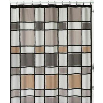 Creative Bath Color Blocks Shower Curtain Bedding