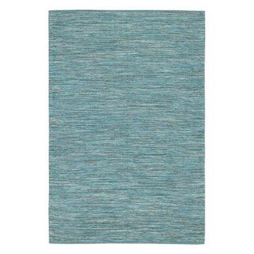 India Contemporary Area Rug, Blue, 7'9