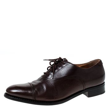 Church'S Brown Leather Toronto Lace Up Oxfords Size 37