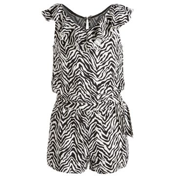 Big Girls Zebra-Print Wrap Romper, Created for Macy's