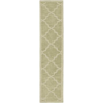 Artistic Weavers Central Park Abbey 2'3 X 12' Handcrafted Runner In Sage Green