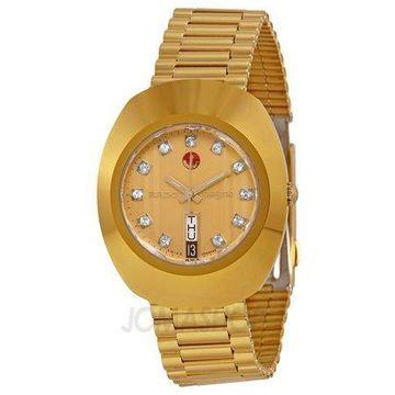 Rado Original Jubile Gold R12413493 Automatic Gold Dial Gold PVD Men's Watch