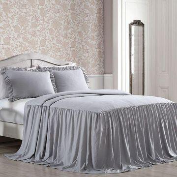 Avondale Manor Saige Enzyme Wash 3-piece Bedspread Set with Shams, Grey, King