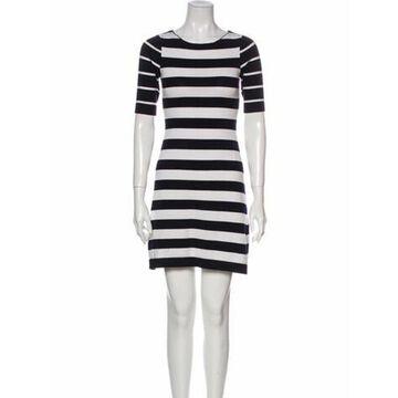 Striped Mini Dress Blue