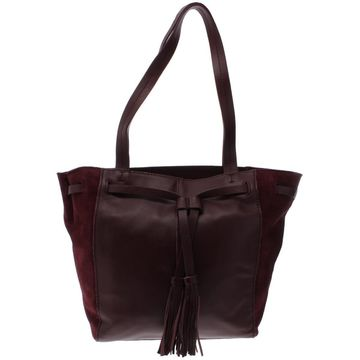 The Sak Womens Huntley Leather Shopper Tote Handbag