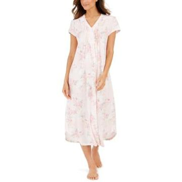 Miss Elaine Women's Cottonessa Knit Long Nightgown