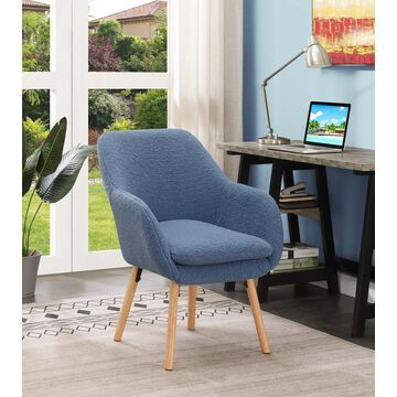 Convenience Concepts Take a Seat Charlotte Sherpa Accent Chair, Multiple Finishes