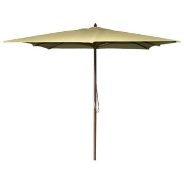 Jordan Manufacturing 8.5' Square Wooden Umbrella, Khaki