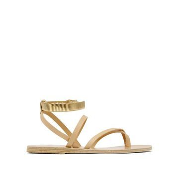 Ancient Greek Sandals - Ohia Ankle-strap Leather Sandals - Womens - Tan Gold