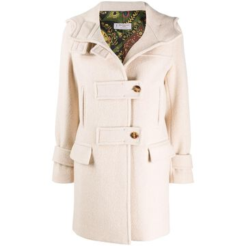 off-centre fastening parka coat