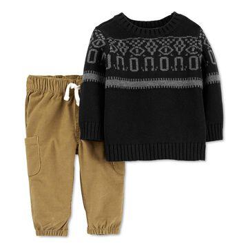 Baby Boys 2-Pc. Knit Sweater & Corduroy Pants Set