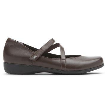 Aravon Womens Abbey Z-Strap Mary Jane Shoes - Size 8.5 D Brown