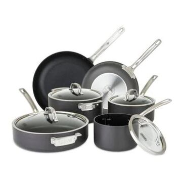 Viking Hard Anodized Nonstick 10-Piece Cookware Set in Black