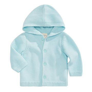 Baby Boys Hooded Cotton Cardigan Sweater, Created for Macy's