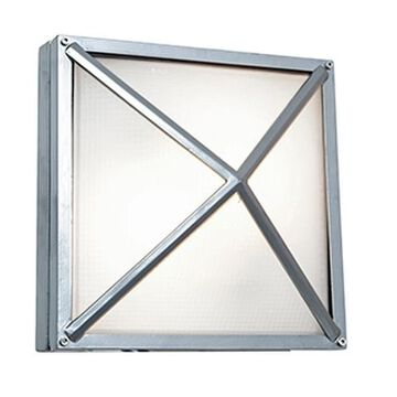 20330MG-SAT-FST Oden 2 Light Satin Outdoor Wall in Incandescent
