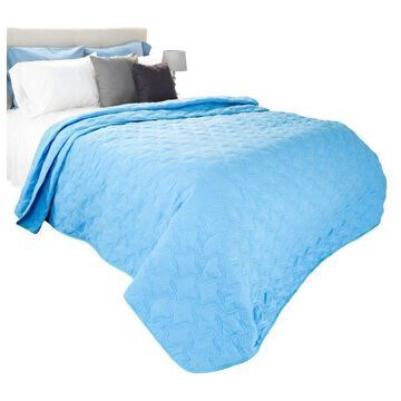 Solid Color Quilt by Lavish Home King, Blue