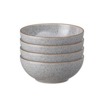 Denby Studio Craft Grey 4 Piece Cereal Bowl Set