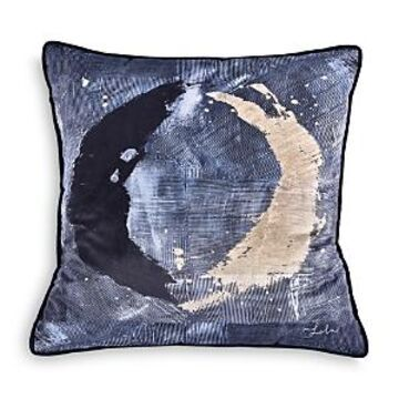 Ren-Wil Novella Velvet Pillow With Black Piping, 20 x 20