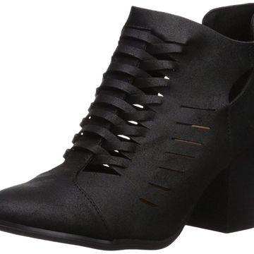 Qupid Women's Prenton-05X Ankle Boot, Black, Size 5.5