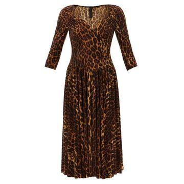Norma Kamali - Sweetheart-neck Leopard-print Jersey Dress - Womens - Animal