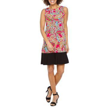 Ronni Nicole Sleeveless Paisley Shift Dress