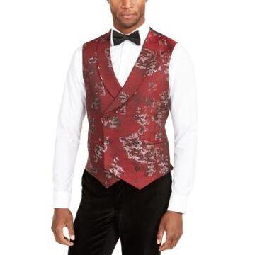 Tallia Men's Slim-Fit Metallic Floral Vest