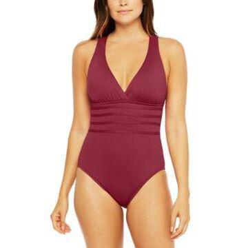 La Blanca Island Goddess Tummy-Control Strappy One-Piece Swimsuit Women's Swimsuit