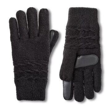 Women's isotoner Water Repellent Reverse Cable Knit Gloves
