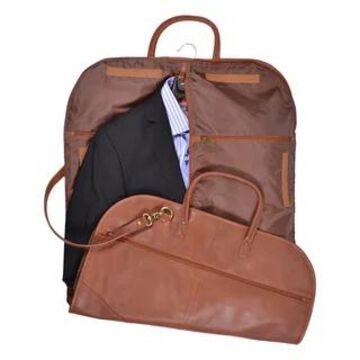 Royce Leather Spencer Genuine Leather Garment Bag (Tan)