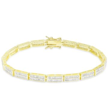 Finesque 1ct TDW Diamond Link Bracelet