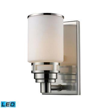 Westmore Lighting Echo Park 1-Light Nickel Transitional Vanity Light