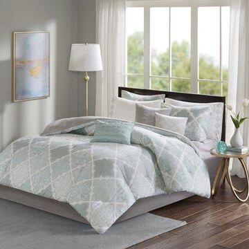 Home Essence Sidnee 9 Piece Cotton Sateen Comforter Set