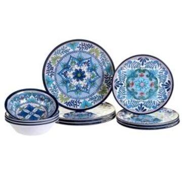 Certified International Talavera 12-Pc. Melamine Dinnerware Set