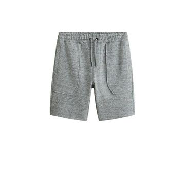MANGO MAN - Flecked jogger bermuda short grey - S - Men