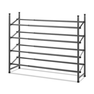 Whitmor 4-Tier Shoe Storage Rack, Grey