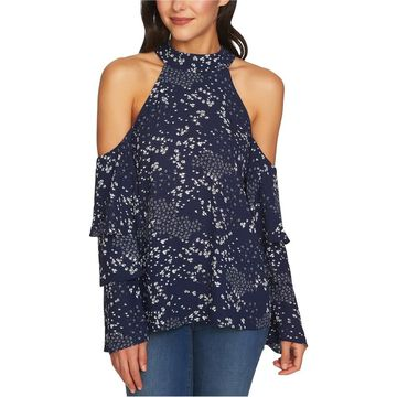 1.State Womens Printed Knit Blouse