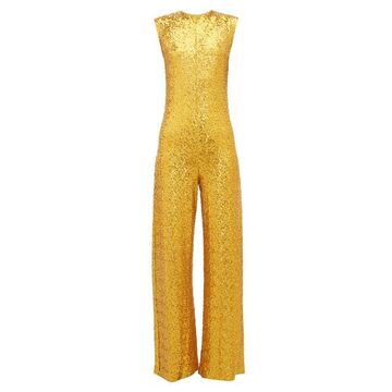 Norma Kamali - Wide-leg Sequin Embellished Jumpsuit - Womens - Gold