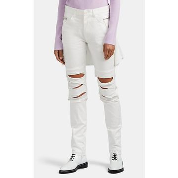 Undercover Crepe & Jersey-Detailed Slim Jeans