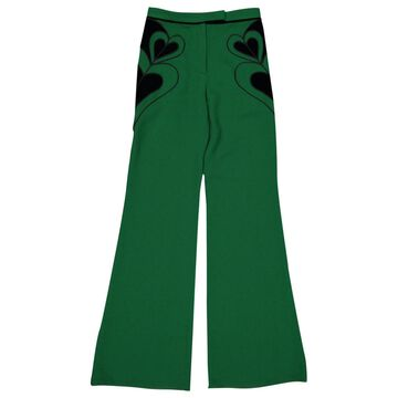 Elie Saab Green Polyester Trousers