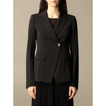 Patrizia Pepe asymmetrical crêpe jacket
