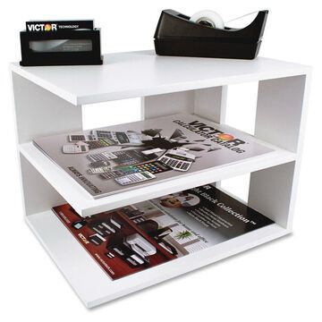 Victor W1120 Pure White Corner Shelf - 9.8