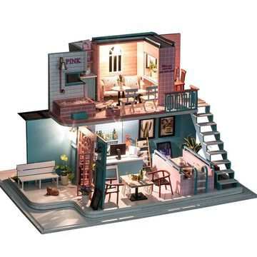 Hot Dollhouse Miniature DIY Doll House Furniture Kit Wooden Toy Baby Kids Gift