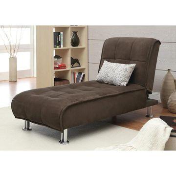 Coaster Company Brown Microfiber Chaise