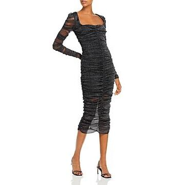 Jonathan Simkhai Standard Ruched Midi Dress