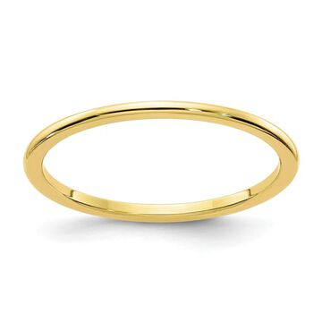 10K Yellow Gold 1.2mm Polished Half Round Stackable Band by Versil (4.5)