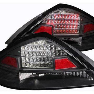 2006 Honda Accord Anzo USA LED Tail Lights in Black, LED Tail Lights - 321029