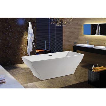 AKDY 67-inch OSF296-A-AK Europe Style White Acrylic Free Standing Bathtub