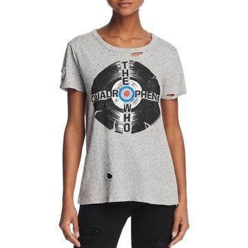 Chaser Womens Graphic Heathered T-Shirt